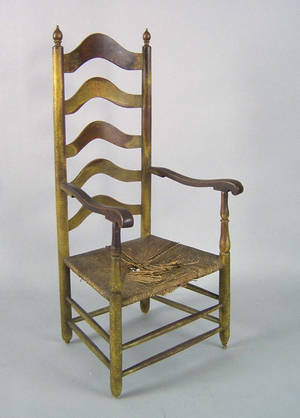 Delaware Valley 5slat ladderback armchair ca 1770