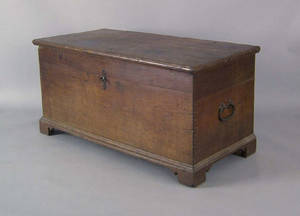 Pennsylvania walnut blanket chest late 18th c