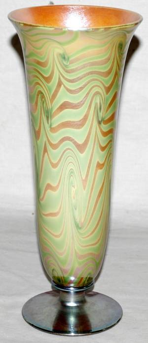 102133 DURAND ART GLASS VASE H12 DIA5