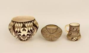 Three Pieces of Acoma Pottery