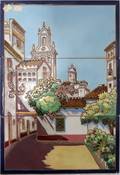 090177 M RAMOS REJANO ART NOUVEAU POTTERY TILES