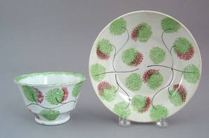 Spatter cup and saucer 19th c