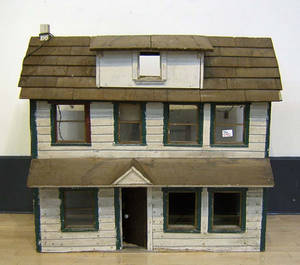 Painted doll house