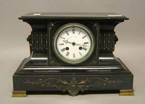 BK  Son Victorian marble mantle clock