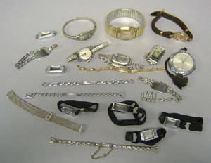 Group of watches and bands to include 14K gold filled bands