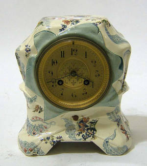 Marti et Cie porcelain mantle clock