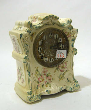 Ansonia choctaw porcelain mantle clock