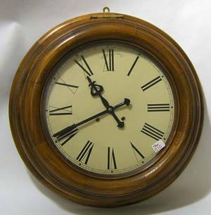 Contemporary oak wall clock