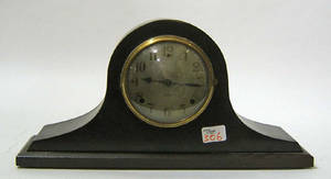Gilbert ebonized mantle clock
