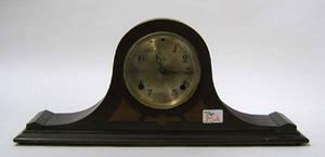 Two Ingraham ebonized mantle clocks