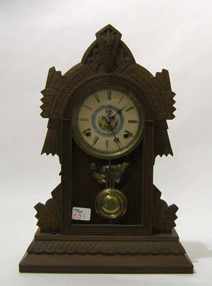 Victorian mahogany mantle clock