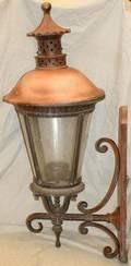 090219 METAL  PANEL GLASS COACH LIGHT H 45
