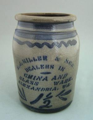 Virginia 1 12 gallon stoneware crock 19th c