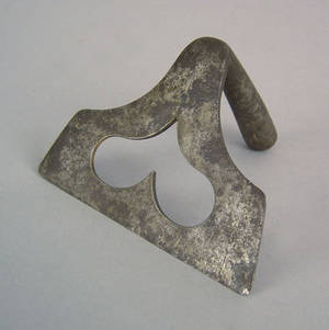 Pennsylvania wrought iron dough scraper 19th c