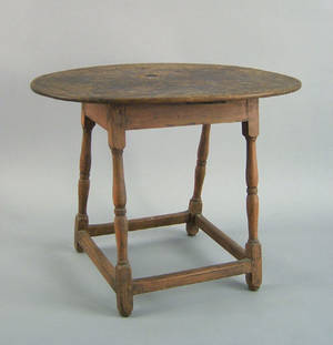 New England Queen Anne maple tavern table ca 1750