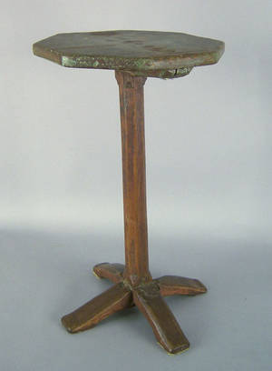 Pine and oak candlestand ca 1740
