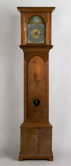 Pennsylvania Queen Anne walnut tall case clock ca 1760