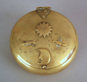English brass snuff box late 18th c