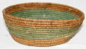100151 NATIVE AMERICAN INDIAN WOVEN BASKET H 2 14