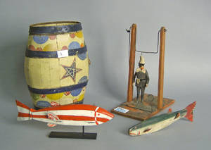 Woodenware to include 2 fish decoys