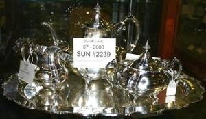 072239 REED  BARTON 4 PIECE STERLING TEA SET