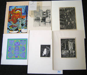 Six engravings and silkscreens by Norman Kent