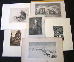 Six pencil signed engravings by Elfriede Abbe