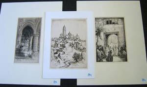 Three pencil signed engravings by Charles Cain