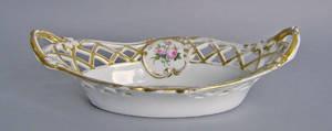 Paris or German porcelain basket
