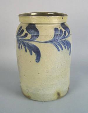 Philadelphia stoneware crock 19th c