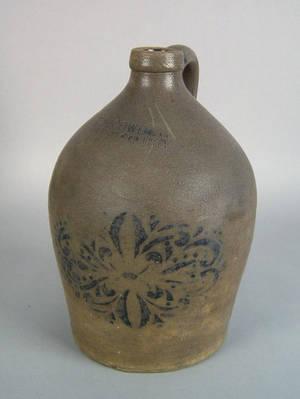 Pennsylvania stoneware jug 19th c