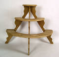 Painted 3tier plant stand late 19th c
