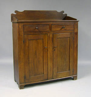 Pennsylvania walnut jelly cupboard 19th c