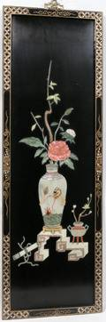 082286 LACQUER TEAKWOOD SCREEN MOTHER PEARL