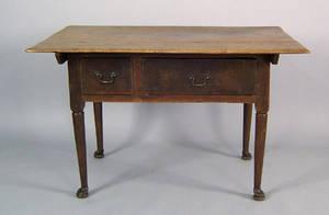 Pennsylvania Queen Anne walnut tavern table ca 1755