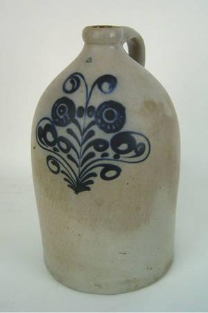 Three gallon stoneware jug 19th c