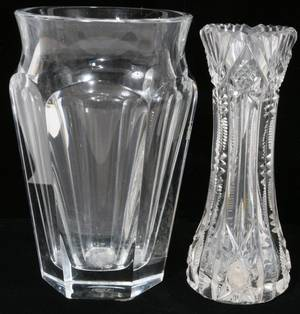 072283 FRENCH BACCARAT VASE CUT GLASS BUD VASE