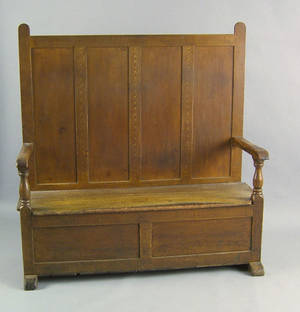 Painted settle late 18th c