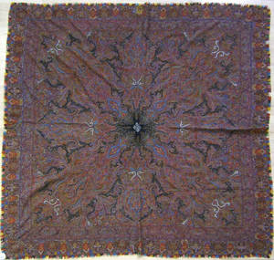 Indian wool paisley late 19th c