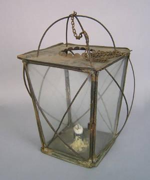 Tin hanging lantern 19th c