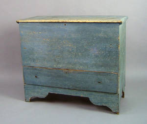 New England painted pine mule chest early 19th c