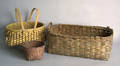 Iroquois woven basket with painted decoration