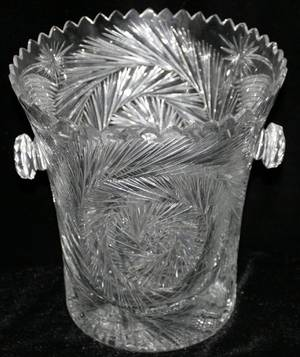 101413 CUT CRYSTAL ICE BUCKET H8 DIA75