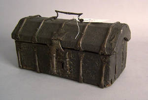Leather covered lock box