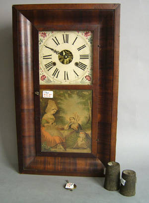 Connecticut Empire mahogany shelf clock by George Marsh