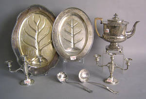 Silver plate to include 2 platters