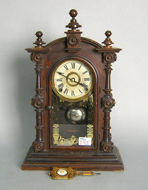 Connecticut rosewood mantle clock by Welch