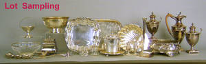 Large group of silver plate