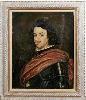 092355 ALBERTS OIL ON CANVAS PORTRAIT OF A KNIGHT