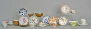 Chinese export cups and saucers